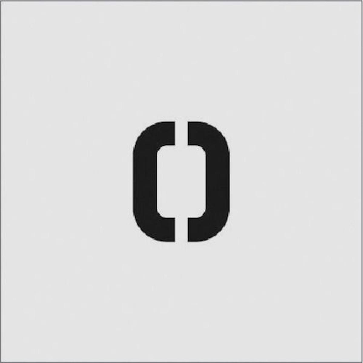 あす楽対応 DIY用品 日本正規品 IM ステンシル O お得クーポン発行中 文字サイズ50×40mm 1枚