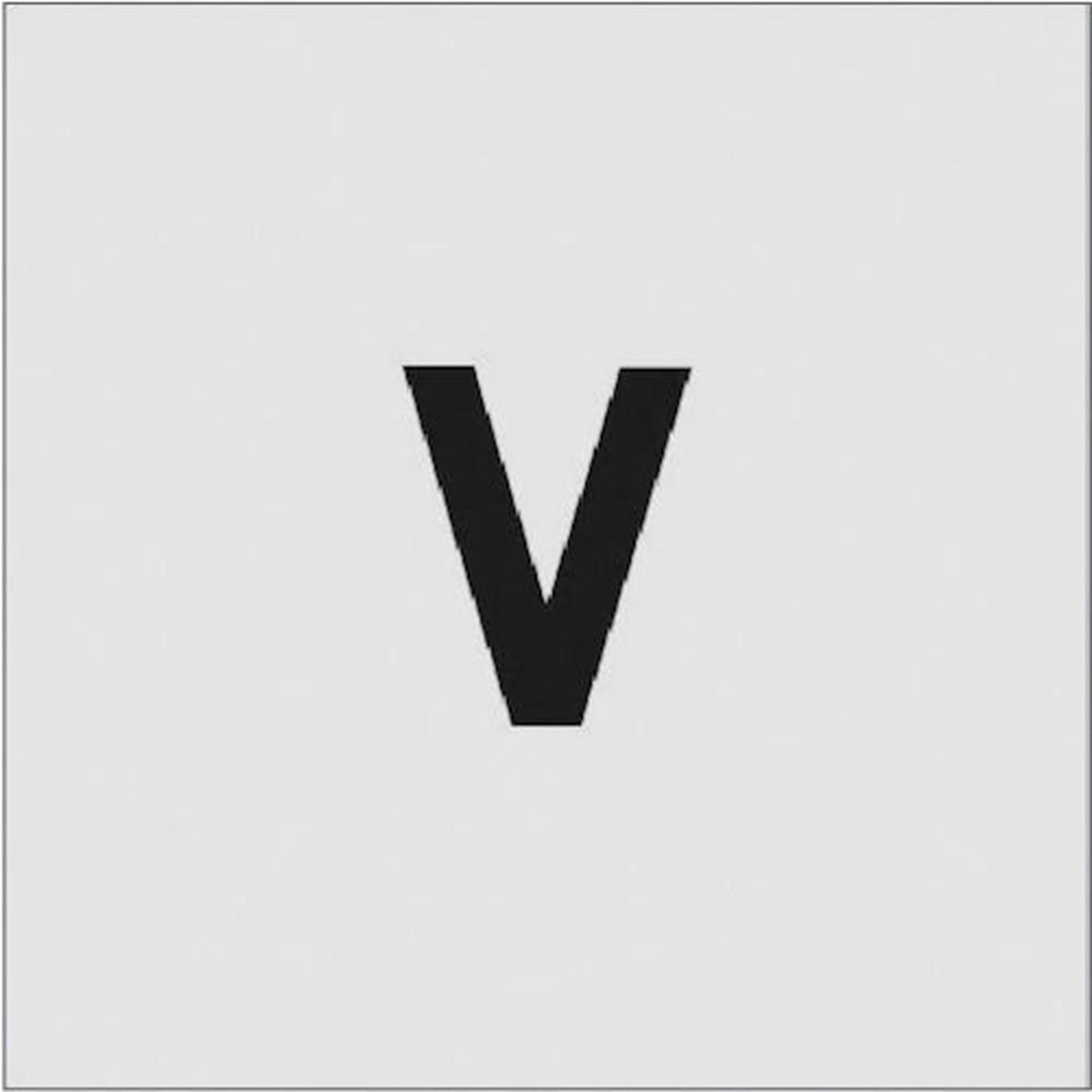 SALE開催中 あす楽対応 DIY用品 IM ステンシル 国内即発送 1枚 文字サイズ50×40mm V