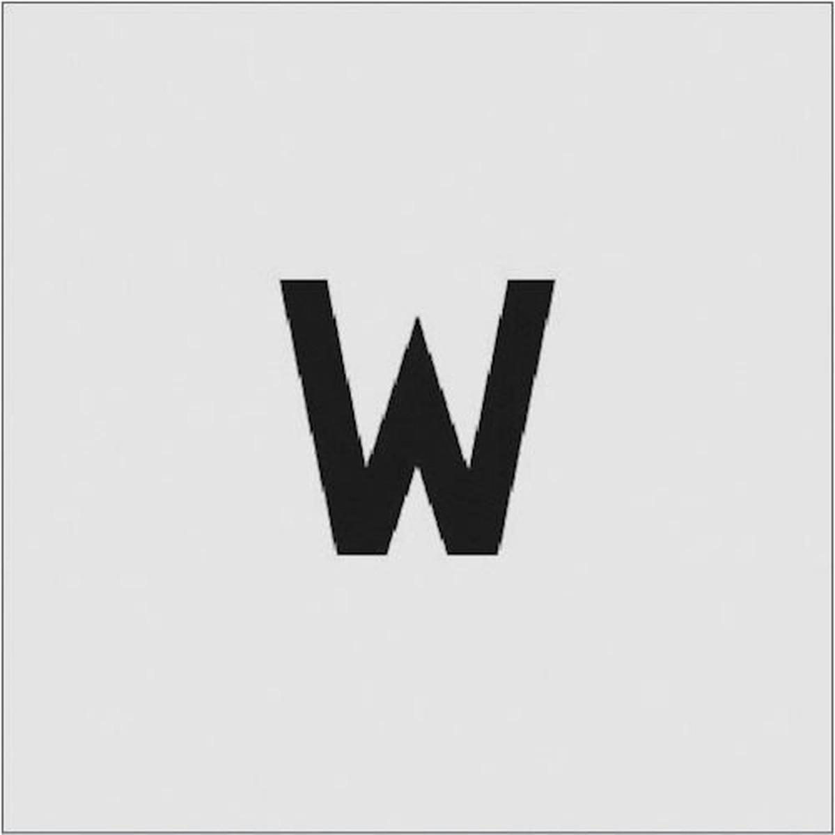 あす楽対応 ディスカウント DIY用品 IM ステンシル 1枚 W 文字サイズ50×40mm 日本未発売
