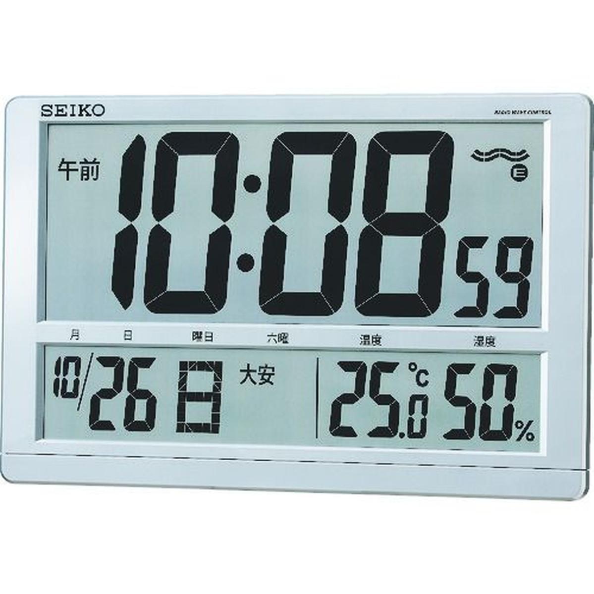 ファッション 1個 大型液晶電波掛置兼用時計 SEIKOSEIKO 大型液晶電波掛置兼用時計 1個, ケルヒャー公式:df973ef0 --- kventurepartners.sakura.ne.jp