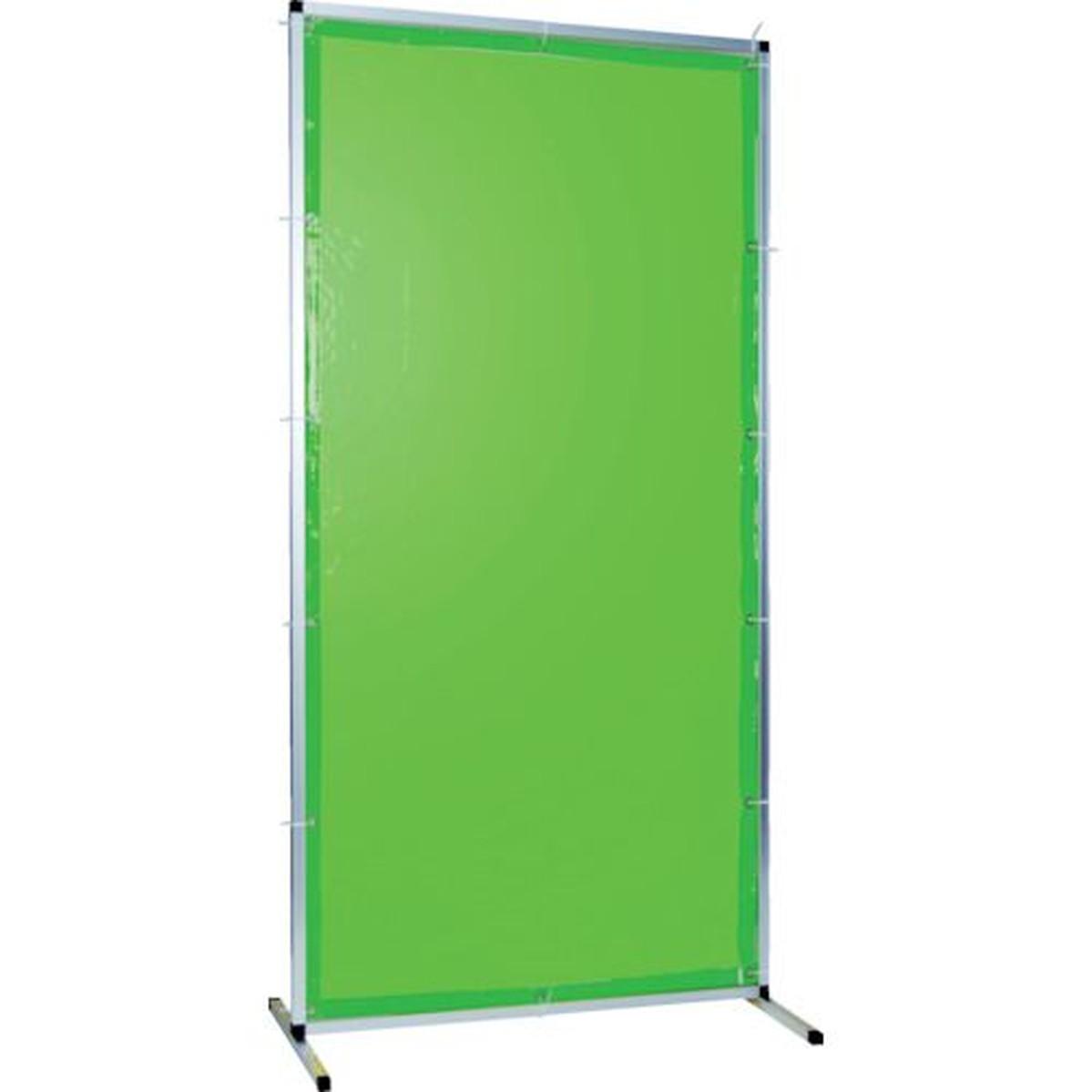 内祝い 日本限定 あす楽対応 DIY用品 TRUSCO 溶接用遮光フェンス アルミ製 1台 グリーン W1000XH1500