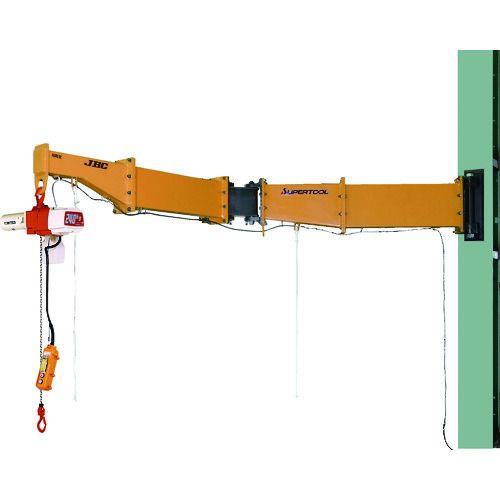 【超歓迎された】 スーパー スーパー 二速電動チェーンブロック付ジブクレーン 1台 溶接型・柱取付式 0.49t 0.49t アーム3m 1台, 釧路市:5e56eb41 --- mail.viradecergypontoise.fr