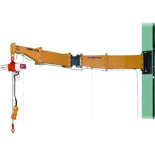 堅実な究極の スーパー ニ速型電動チェーンブロック付ジブクレーン スーパー ボルト・ナット型・柱取付式 1台 1台, エムトラCARショップ:890583e0 --- mail.viradecergypontoise.fr