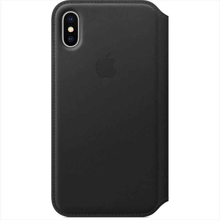 Apple(アップル) 純正 iPhone X レザーフォリオケース 手帳型 ブラック MQRV2FE/A MQRV2FEA