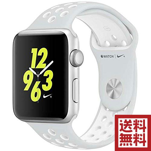 【中古】 Nike+ 42mm アップル Apple Watch Series 2 ホワイトNikeスポーツバンド フラットシルバー/ 【送料無料】 スペースグレイアルミニウムケース