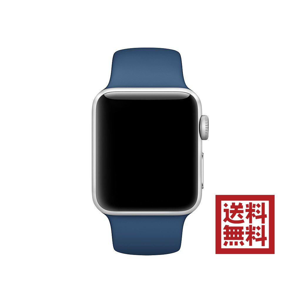 [超ポイントバック祭&現金値引クーポン]アップルウォッチ Apple Watch 純正 38mmケース用 オーシャンブルースポーツバンド MNJ22FE/A