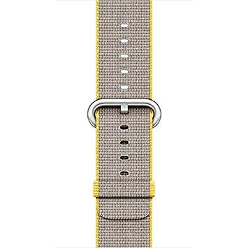 [超ポイントバック祭&現金値引クーポン]アップルウォッチ 純正 Apple Watch 42mmケース用 イエロー/ライトグレイウーブンナイロン MNKJ2FE-A