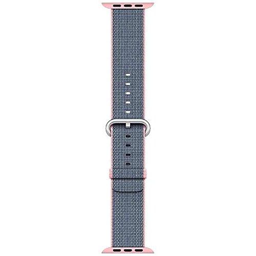 [超ポイントバック祭&現金値引クーポン]純正 Apple Watch 42mm 交換用バンド ライトピンク/ミッドナイトブルーウーブンナイロン MNKG2FE/A