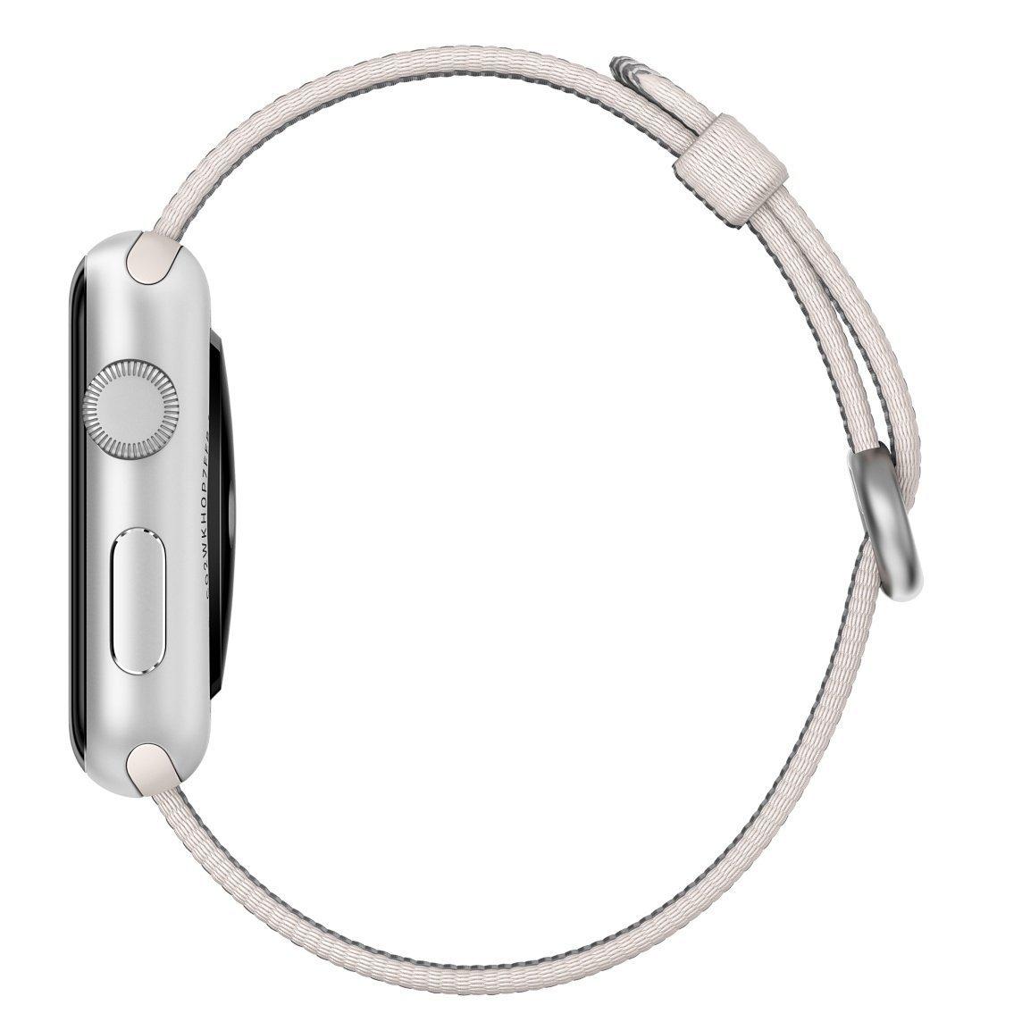 [超ポイントバック祭&現金値引クーポン]アップル Apple  純正 Apple Watch 42mm 交換用バンド ウーブンナイロン  パール
