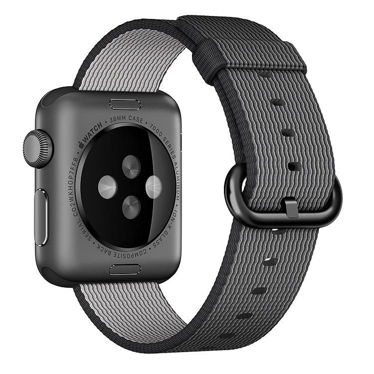 [超ポイントバック祭&現金値引クーポン]アップルウォッチ Apple Watch 純正 交換用バンド ウーブンナイロン  38mm, ブラック