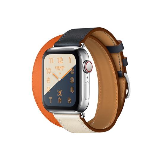 Apple Watch Hermes Series 4(GPS + Cellular)40mm ステンレススチールケースとヴォー・スウィフト(インディゴ/クレ/オレンジ)ドゥブルトゥールレザーストラップ[アップルウォッチ エルメス シリーズ4] MU7L2J/A