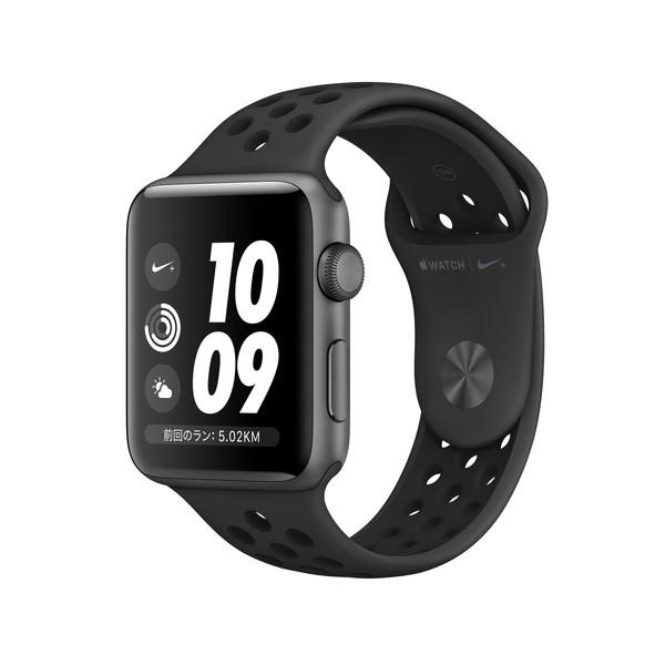 アップルウォッチ 本体 ナイキ Apple Watch Series 3 Nike+ 38mm スペースグレイアルミニウムケースとアンスラサイト/ブラックNikeスポーツバンド シリーズ3 (GPSモデル)MTF12J/A MTF12JA