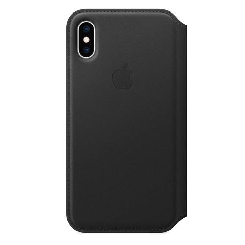 【全品エントリーでP10倍】Apple(アップル) 純正 iPhone XS 5.8インチ レザーフォリオ ブラック MRWW2FE/A MRWW2FEA