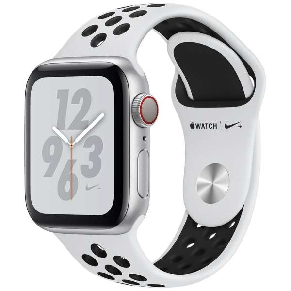 Apple Watch Nike+ Series 4(GPS + Cellular)40mm シルバーアルミニウムケースとピュアプラチナム/ブラックNikeスポーツバンド [アップルウォッチ シリーズ4] MTX62J/A MTX62JA