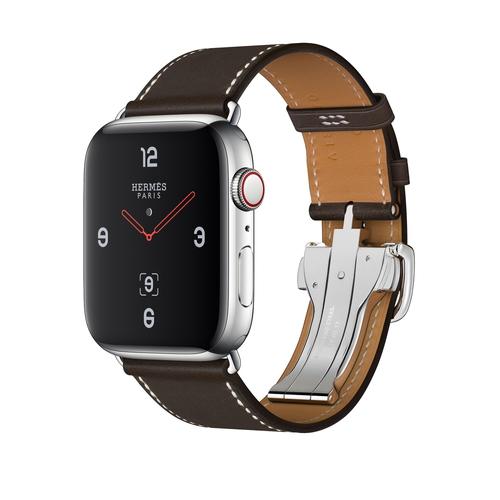 Apple Watch Hermes Series 4(GPS + Cellular)44mm ステンレススチールケースとヴォー・バレニア(エベンヌ)シンプルトゥールディプロイアントバックルレザーストラップ [アップルウォッチ エルメス シリーズ4] MU752J/A MU752JA
