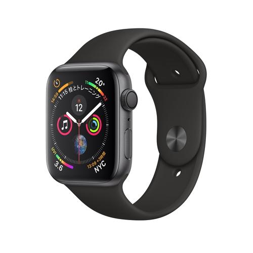 Apple Watch Series 4(GPS)40mm スペースグレイアルミニウムケースとブラックスポーツバンド[アップルウォッチ シリーズ4] MU662J/A MU662JA