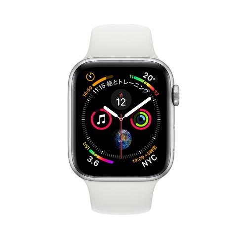 Apple Watch Series 4(GPS)40mm シルバーアルミニウムケースとホワイトスポーツバンド[アップルウォッチ シリーズ4]MU642J/A MU642JA