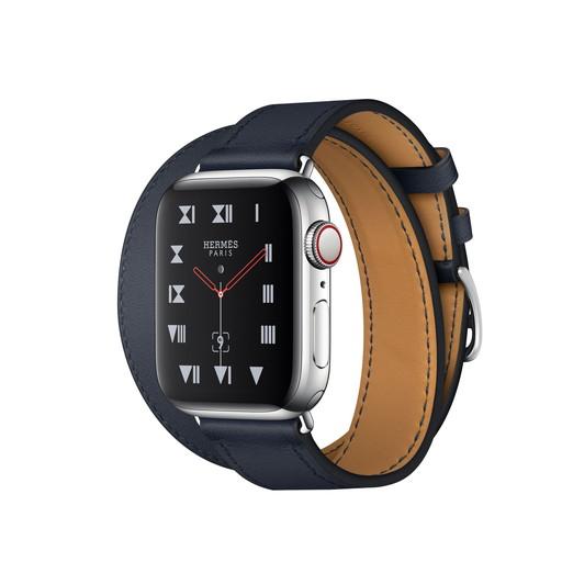 Apple Watch Hermes Series 4(GPS + Cellular)40mm ステンレススチールケースとヴォー・スウィフト(ブルーインディゴ)ドゥブルトゥールレザーストラップ[アップルウォッチ エルメス シリーズ4] MU722J/A MU722JA