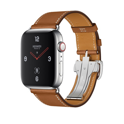 Apple Watch Hermes Series 4(GPS + Cellular)44mm ステンレススチールケースとヴォー・バレニア(フォーヴ)シンプルトゥールディプロイアントバックルレザーストラップ[アップルウォッチ エルメス シリーズ4] MU742J/A MU742JA