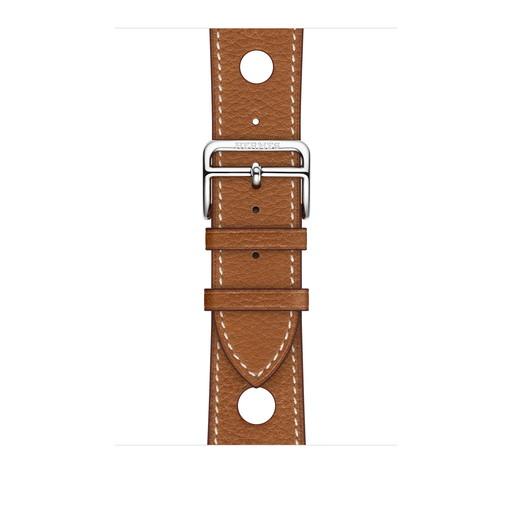 アップルウォッチ エルメス Apple Watch Hermes 42mm/44mm ケース用 ヴォー・グレイン・バレニア(フォーヴ)シンプルトゥールラリーレザーストラップ【純正/正規品/交換用バンド】MU7C2FE/A MU7C2FEA