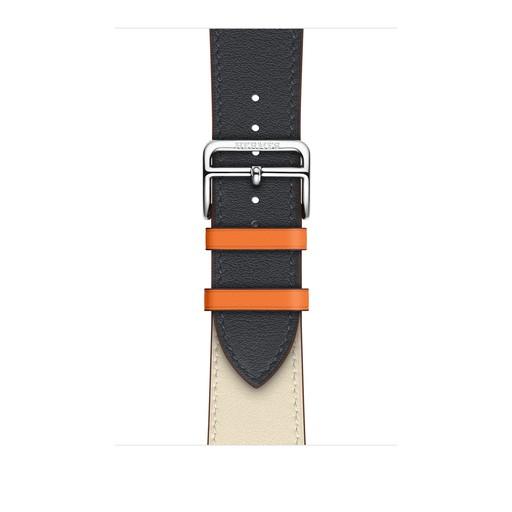 アップルウォッチ エルメス Apple Watch Hermes 42mm/44mm ケース用 ヴォー・スウィフト(インディゴ/クレ/オレンジ)シンプルトゥールレザーストラップ 【純正/正規品/交換用バンド】MTQD2FE/A MTQD2FEA