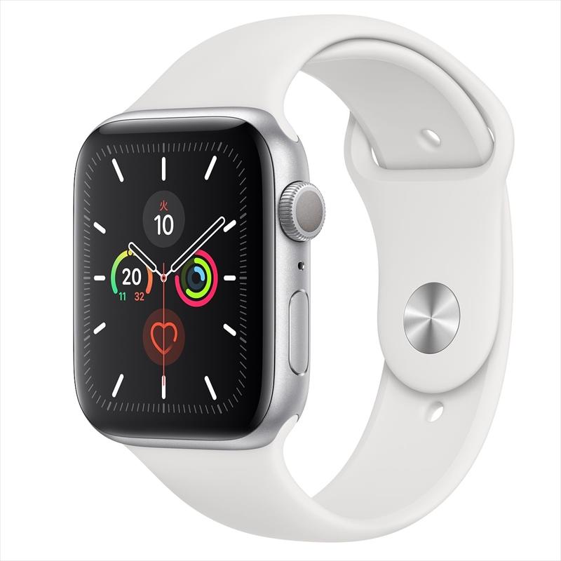 Apple Watch Series 5(GPSモデル)44mmシルバーアルミニウムケースとスポーツバンド S/M & M/L MWVD2J/A アップルウォッチ シリーズ5