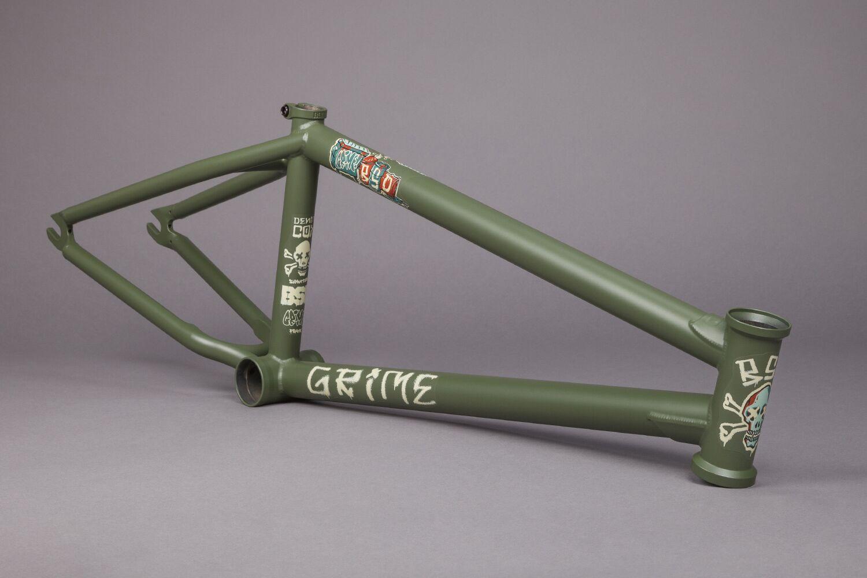 【BMX ストリート フレーム】 BSD GRIME FRAME グリーン 20.6