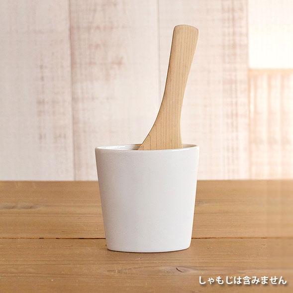 お母さんのniceアイデア 低価格 人気上昇中 白磁しゃもじ立て TOJIKITONYA