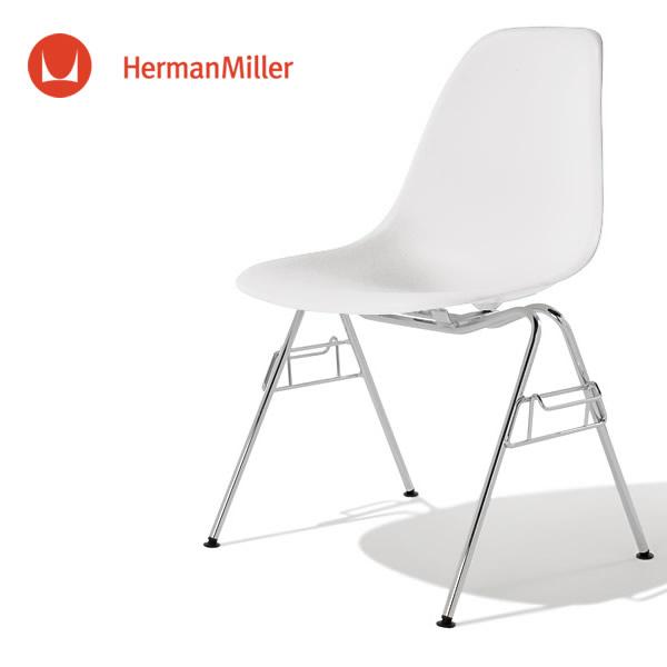 イームズ サイドシェルチェア DSS ホワイト クロームベース スタンダードグライズ[DSS. 47 ZF E8]【Herman Miller ハーマンミラー 正規品】