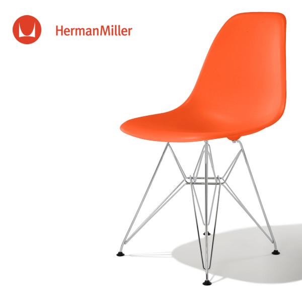 イームズ サイドシェルチェア DSR レッド ブラックベース フェルトグライズ[DSR. BK ZE E9]【Herman Miller ハーマンミラー 正規品】