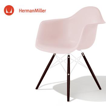 イームズ アームシェルチェア DAW ブラッシュ ホワイトベース エボニー[DAW. 91 EN BLH E8]【Herman Miller ハーマンミラー 正規品】