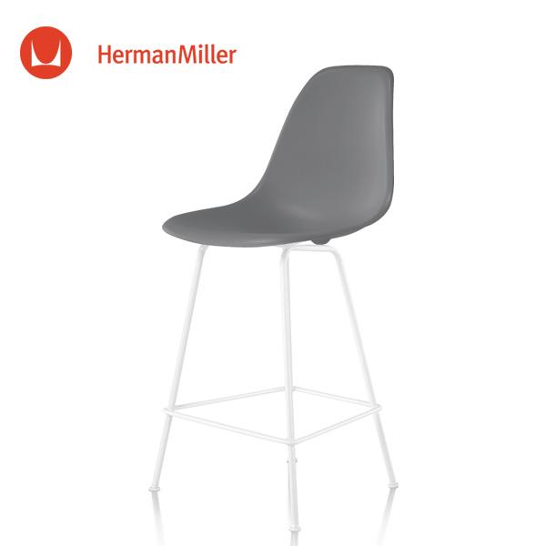 イームズ シェルスツール カウンターハイトスツール DSHCX チャコール ホワイトベース スタンダードグライズ[DSHCX. 91 CHL E8]【Herman Miller ハーマンミラー 正規品】