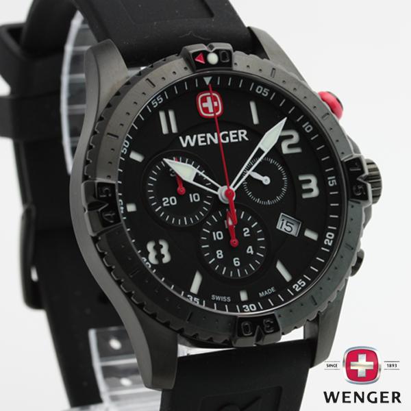 e-mix  Wenger WENGER Squadron SQUADRON chronograph calendar 77053 ... cd04cd52e4