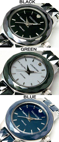 CHANDINE 天然金剛石 & 藍寶石玻璃 & 硬陶瓷用 ★ 女裝手錶所有 3 種顏色 02P24Oct15