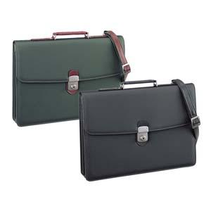 國鞄(コクホー) メタリックシリーズ メタリック合皮製 B4サイズ かぶせ式 (グリーン) No942GR 送料無料