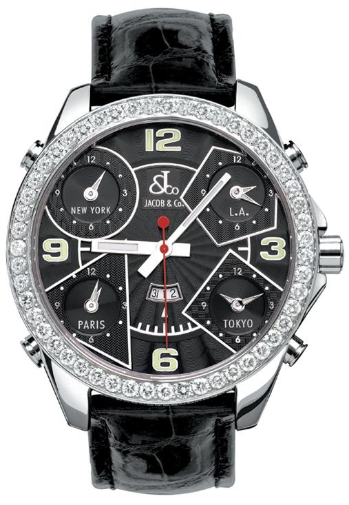スーパーSALE/スーパー/SALE 腕時計 メンズ JACOB&Co. ジェイコブ 腕時計 FIVE TIME ZONE(47mm) jc-2d 正規品 送料無料