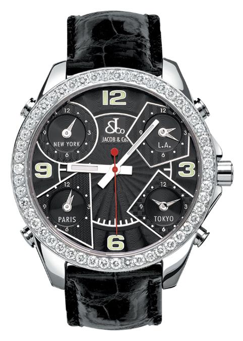 腕時計 ユニセックス JACOB&Co. ジェイコブ 腕時計 FIVE TIME ZONE(40mm) jc-m2d 正規品 送料無料