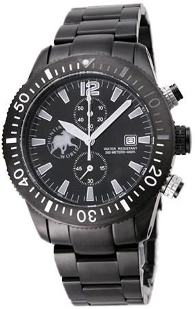 スーパーSALE/スーパー/SALE ハンティングワールド メンズ 腕時計 ブラックストリーム HW009BKGY HUNTING WORLD 送料無料