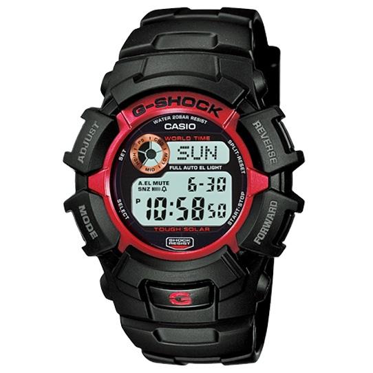 Rakuten Supermarket Sale Supermarket Sale Casio G Shock Casio G Shock Tough Solar Men Watch Watch G 2300f 4 Black Red Solar Watch