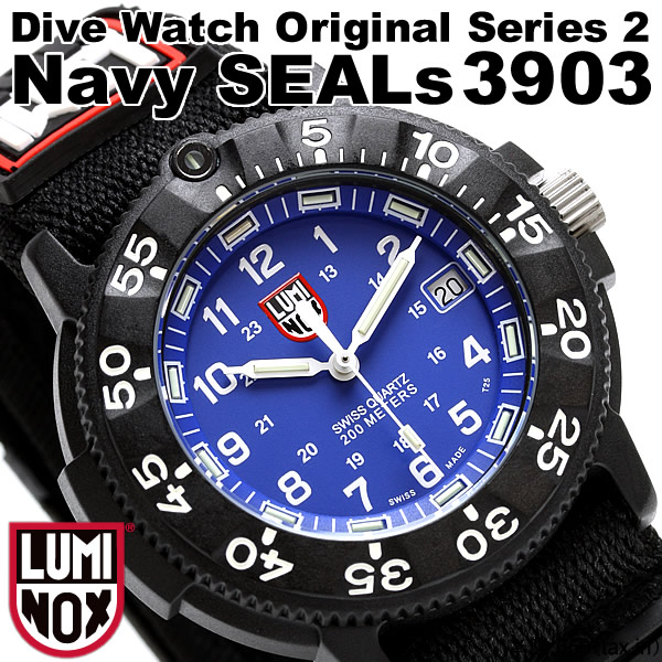 Also called a LUMINOX watch unidirectional rotating bezel 200 m divers  watch waterproof date calendar Luminox origin luminox 3903