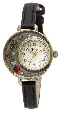 J-AXIS表女士手錶古董風格黑色BL940-BK