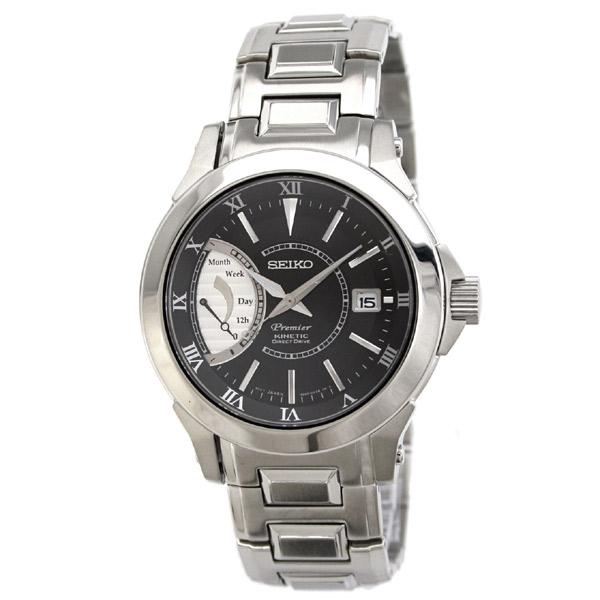 スーパーSALE/スーパー/SALE SEIKO Premier セイコー 腕時計 キネティック搭載 ダイレクトドライブ メンズウォッチ SRG001P1 送料無料