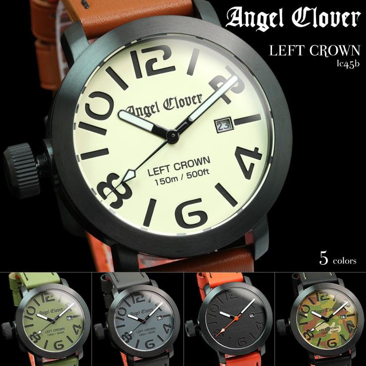 三葉草的天使天使三葉草左冠離開皇冠手錶男式手錶 lc45b 雜誌 s 品牌