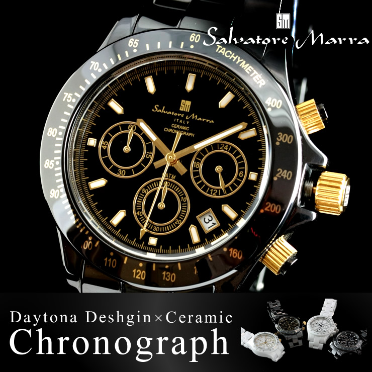 Men's watches men watch watch Salvatore Marra MEN's all 4 color Salvatore Mara ceramic SM12101.