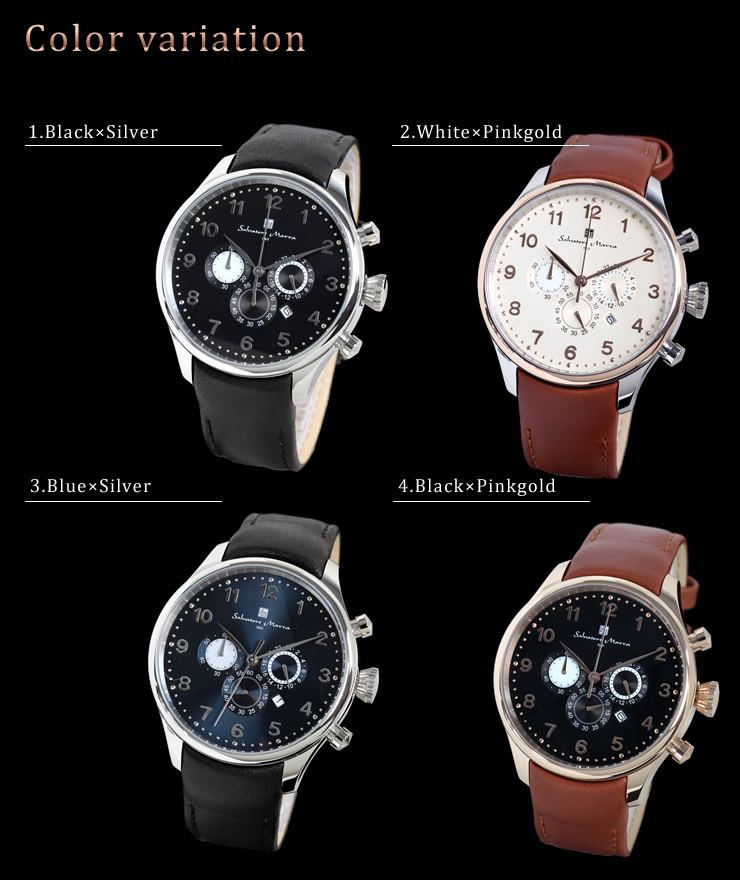 Salvatore Salvatore Marra Mara men's watches chronograph magazine published models