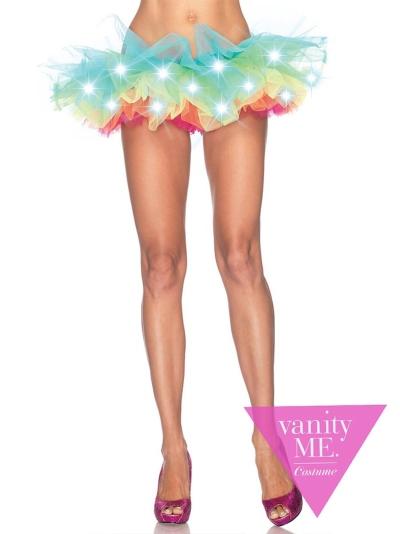 LEG AVENUE(レッグアベニュー)LEDレインボーパニエ コスプレ ハロウィン 衣装 コスチューム コスプレ衣装 仮装 大人 レディース(女性用) vla-A1840