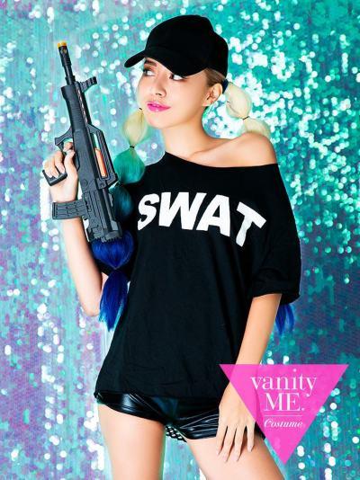 【3点セット】SWATドルマンコーデ【vanityME.オリジナルコーデ】【 コスプレ 衣装 仮装 コスチューム ハロウィン】vcscd-0035