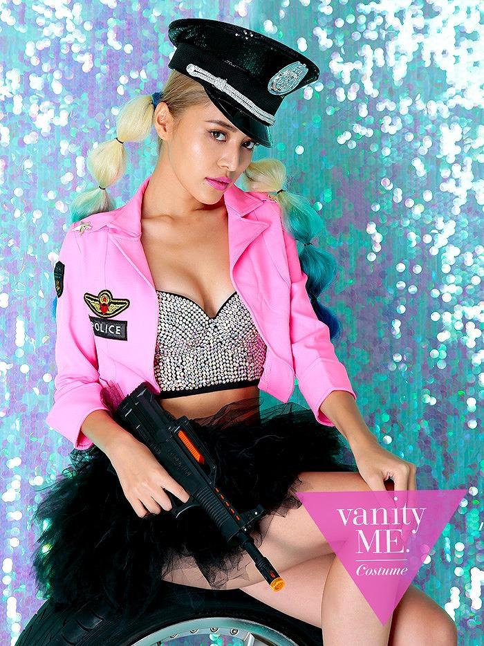 100%正規品 【2点セット】Vanquish police PINK (S・Mサイズ)【vanityME.オリジナルコーデ】【 コスプレ 衣装 仮装 コスチューム ハロウィン】vcscd-0056, カホクチョウ 91748fc4