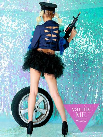【2点セット】Vanquish police  NAVY(S・Mサイズ)【vanityME.オリジナルコーデ】【 コスプレ 衣装 仮装 コスチューム ハロウィン】vcscd-0057