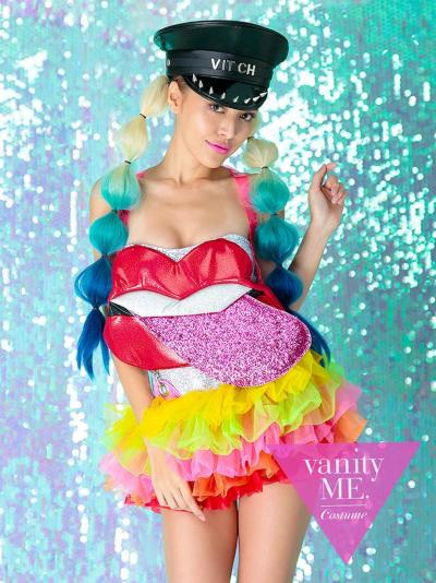 【2点セット】RIP GIRL rainbow【vanityME.オリジナルコーデ】【 コスプレ 衣装 仮装 コスチューム ハロウィン】vcscd-0072